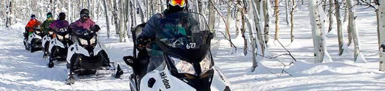 Snowmobiling in Park City